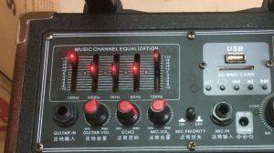 EQUALIZER thuộc bảng điều khiển của loa kéo karaoke di động TEMEISHENG Q8S bass 2 tấc.
